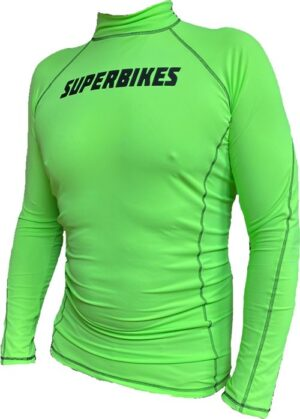 Superbikes Green Compression Top / Base Layer