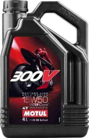MOTUL 300V FACTORY LINE RACING 15W50, 4 L