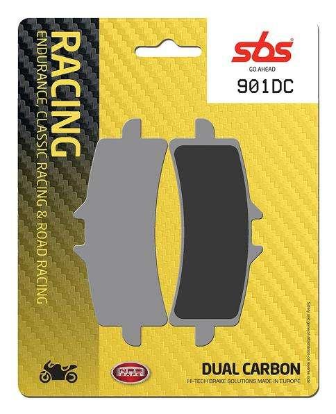 Dual carbon brake pads